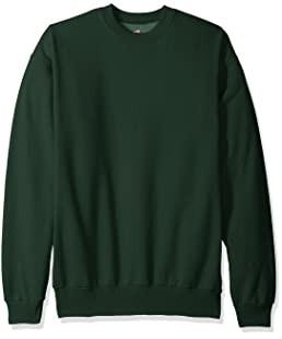 Hanes Men's Ecosmart Fleece Sweatshirt, Deep Forest, Large