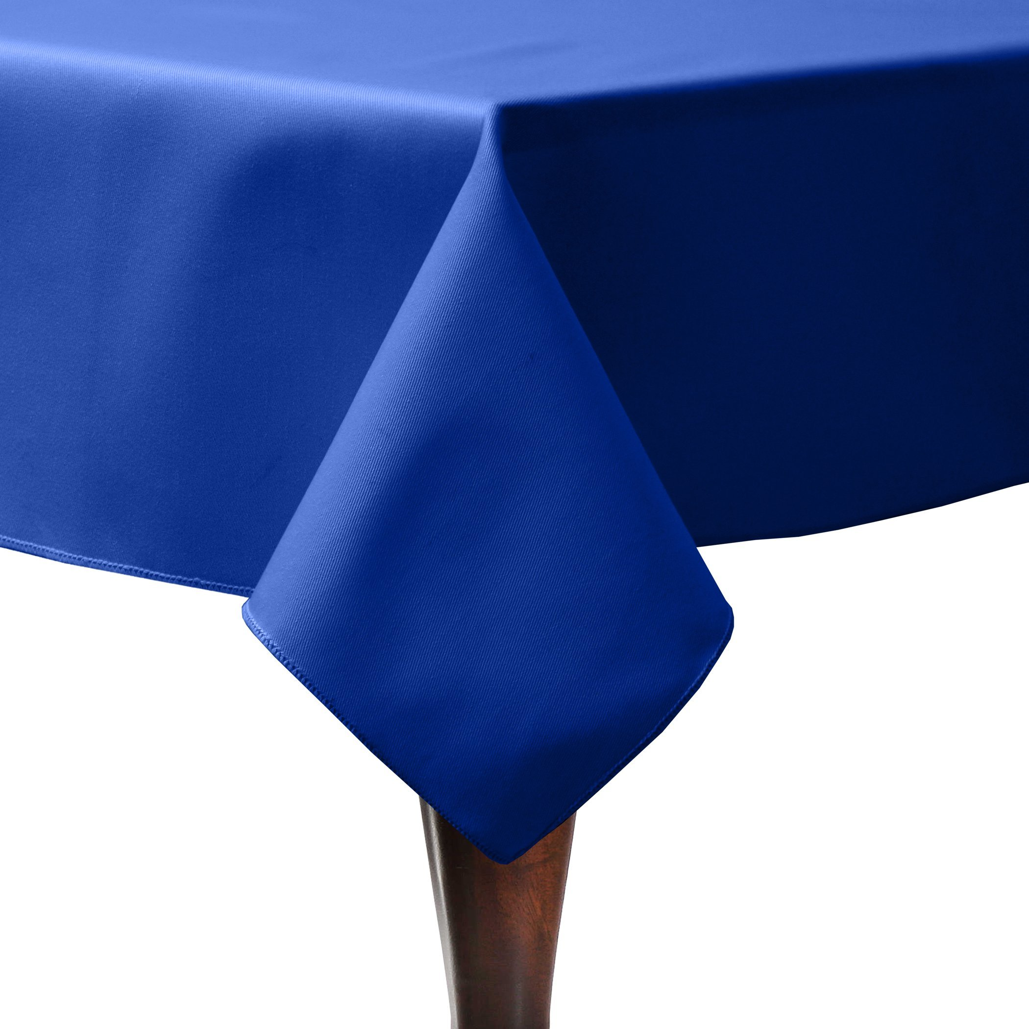Ultimate Textile (10 Pack) Poly-cotton Twill 60 x 108-Inch Rectangular Tablecloth - for Restaurant and Catering, Hotel or Home Dining use, Royal Blue