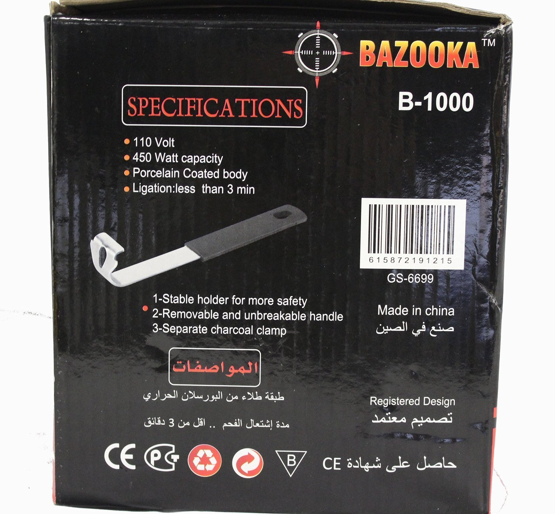 Amazon.com: Bazooka quemador con Free Coco Bazooka Carbón ...