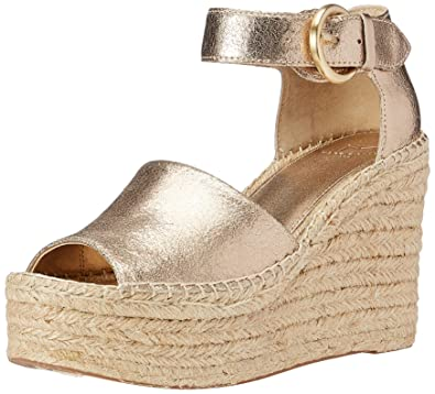 10380078476 Marc Fisher LTD Women s Alida Espadrille Wedge Gold Leather 5 ...