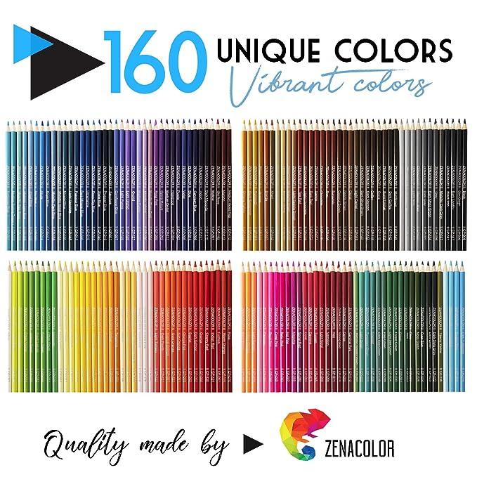 160 Crayons De Couleurs Numérotés Zenacolor Rangement Facile