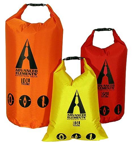 d77fee17f1c6 Amazon.com   ADVANCED ELEMENTS Pack Lite Roll Top Dry Bag (Set of 3 ...