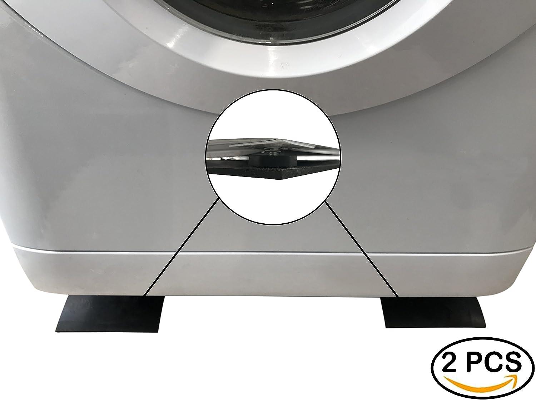 Strisce di gomma antivibrazione per lavatrice, modello da 60 cm x 14 cm x 5 cm, per ridurre il rumore, compatibilità universale, per elettrodomestici come asciugatrici e lavastoviglie, durevoli, set di 2 pezzi, antiscivolo, pulizia facile, lunga durata LLB