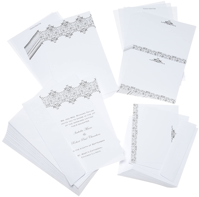 Amazon.com: Wilton Pressed Floral Wedding Invitation Kit: Kitchen ...