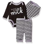 Baby Essentials Boy 3 Piece Set, Black, 6-9 Months