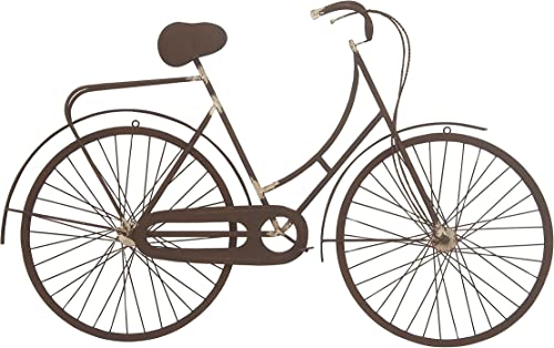 Deco 79 59480 Metal Bicycle Wall D cor, 26 x 42 , Brown