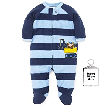 dd008152817e Amazon.com  Little Me Warm Fleece Baby Pajamas Footed Blanket ...