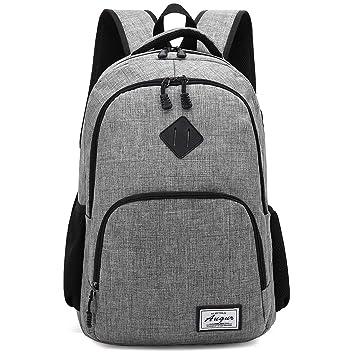 Heiß-Verkauf am neuesten große Auswahl offizielle Bilder Männer Canvas Rucksack Daypacks Laptop Tasche Schulrucksack Schule Uni Grau