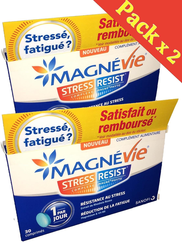 Sanofi MagnéVie Stress Resist Cura antiestrés para 2 meses de tratamiento, 2 cajas de 30 comprimidos: Amazon.es: Salud y cuidado personal