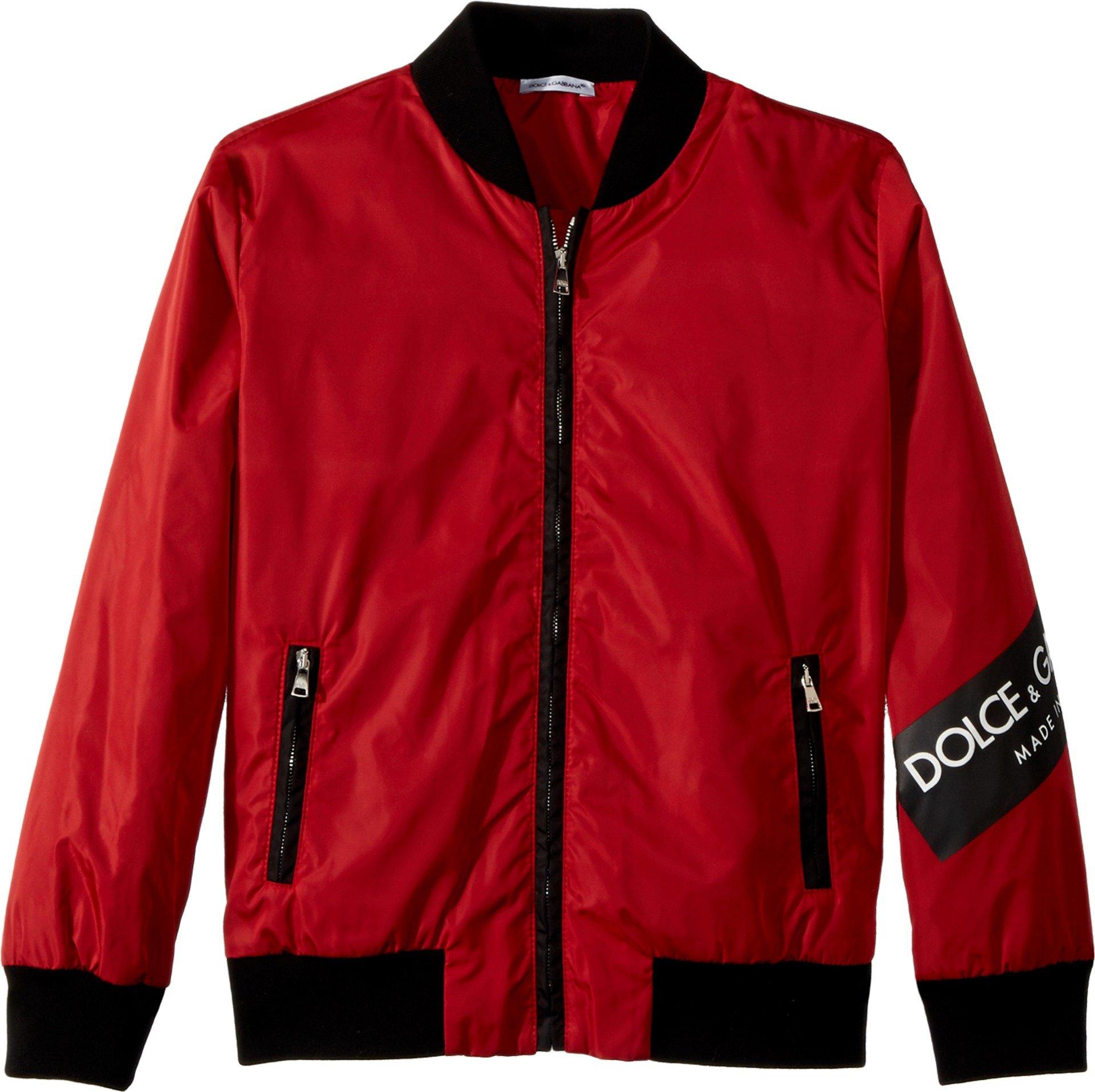 Dolce & Gabbana Kids Boy's Blouson (Big Kids) Bright Red 10