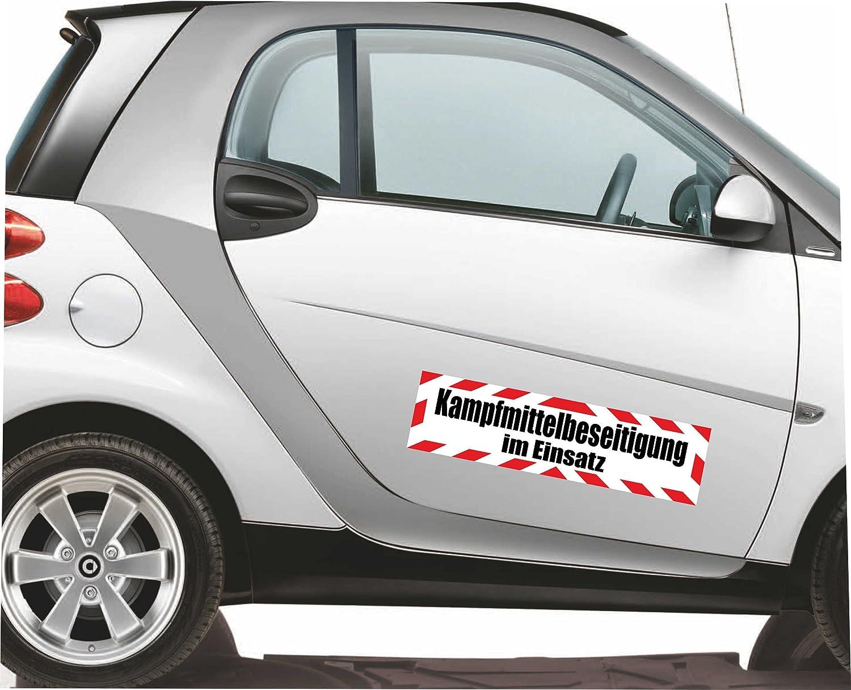 Magnetfolie f/ür Auto//LKW//Truck//Baustelle//Firma Magnetschild Notdienst mit Rahmen 30 x 8 cm reflektierend INDIGOS UG