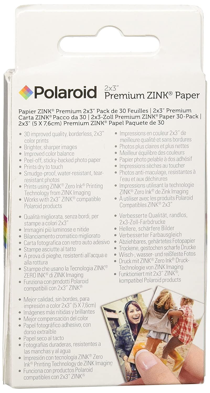 Polaroid 2 X 3 Inch Premium Zink Photo Paper Compatible Amazonco