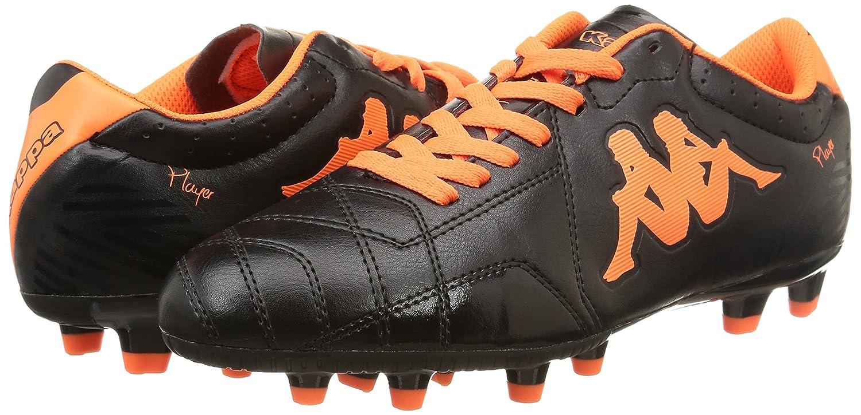 Joueur Kappa Base Fg - Cuir Et Chaussure De Football Hommes Noir Synthétique Noir (906 / Noir / Orange Fluo) 44 2EC60GHs
