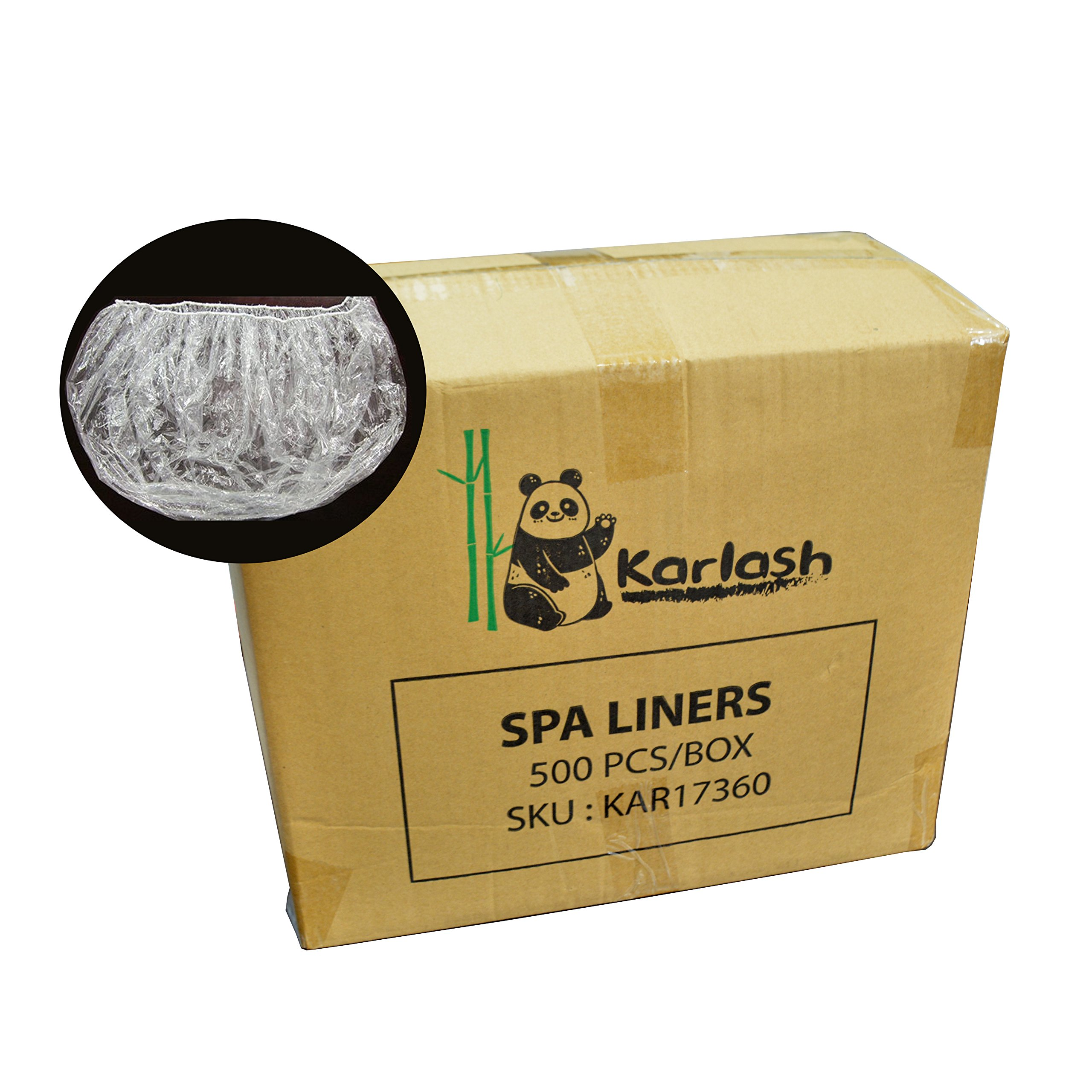PandaSpa by Karlash Ultra Premium Spa Disposable Liners Big Size Fits all Pedicure Spa 500pcs