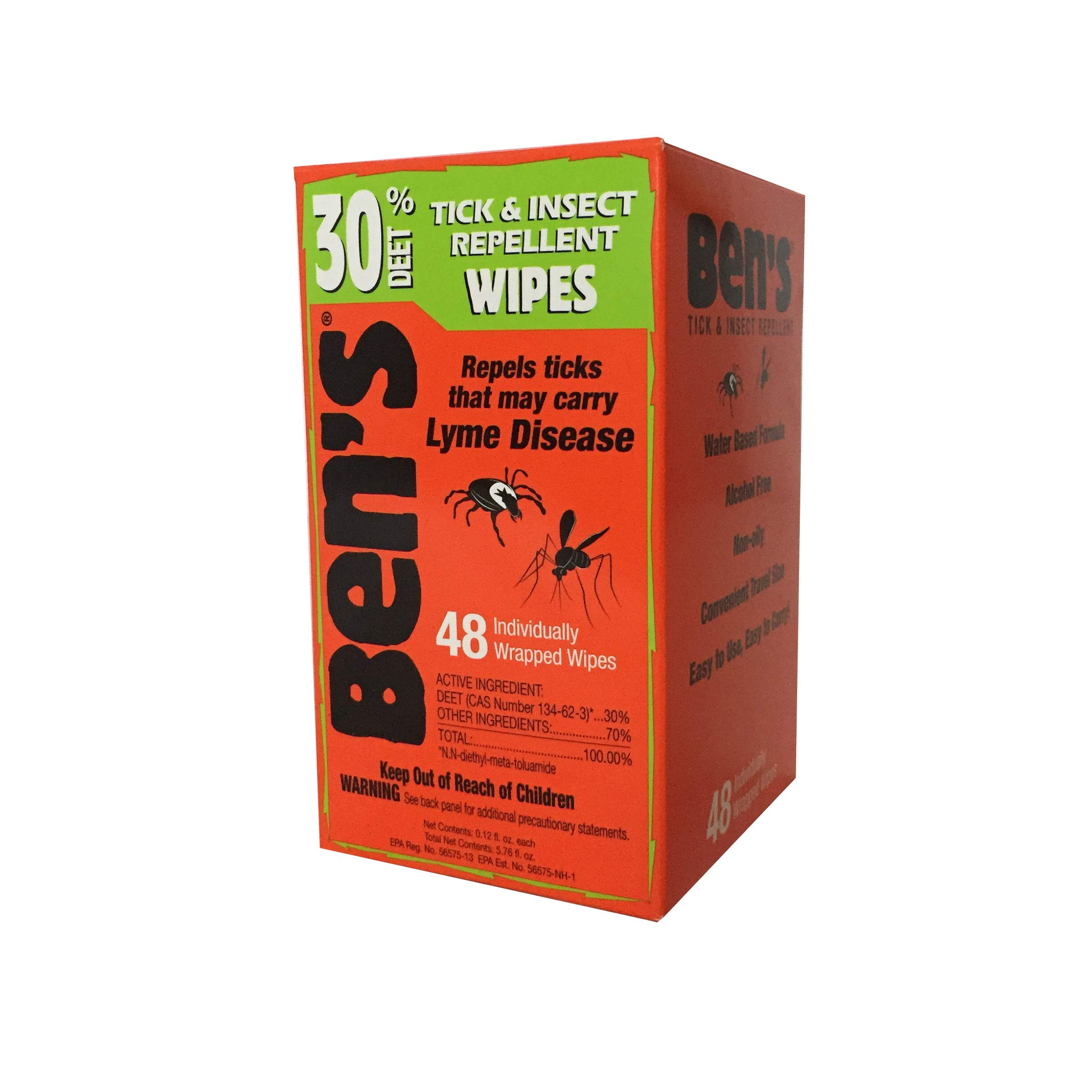 Ben's 30 Deet Mosquito Tick Insect & Bug Repellent Field Wipes - 48 Ct. by Benny