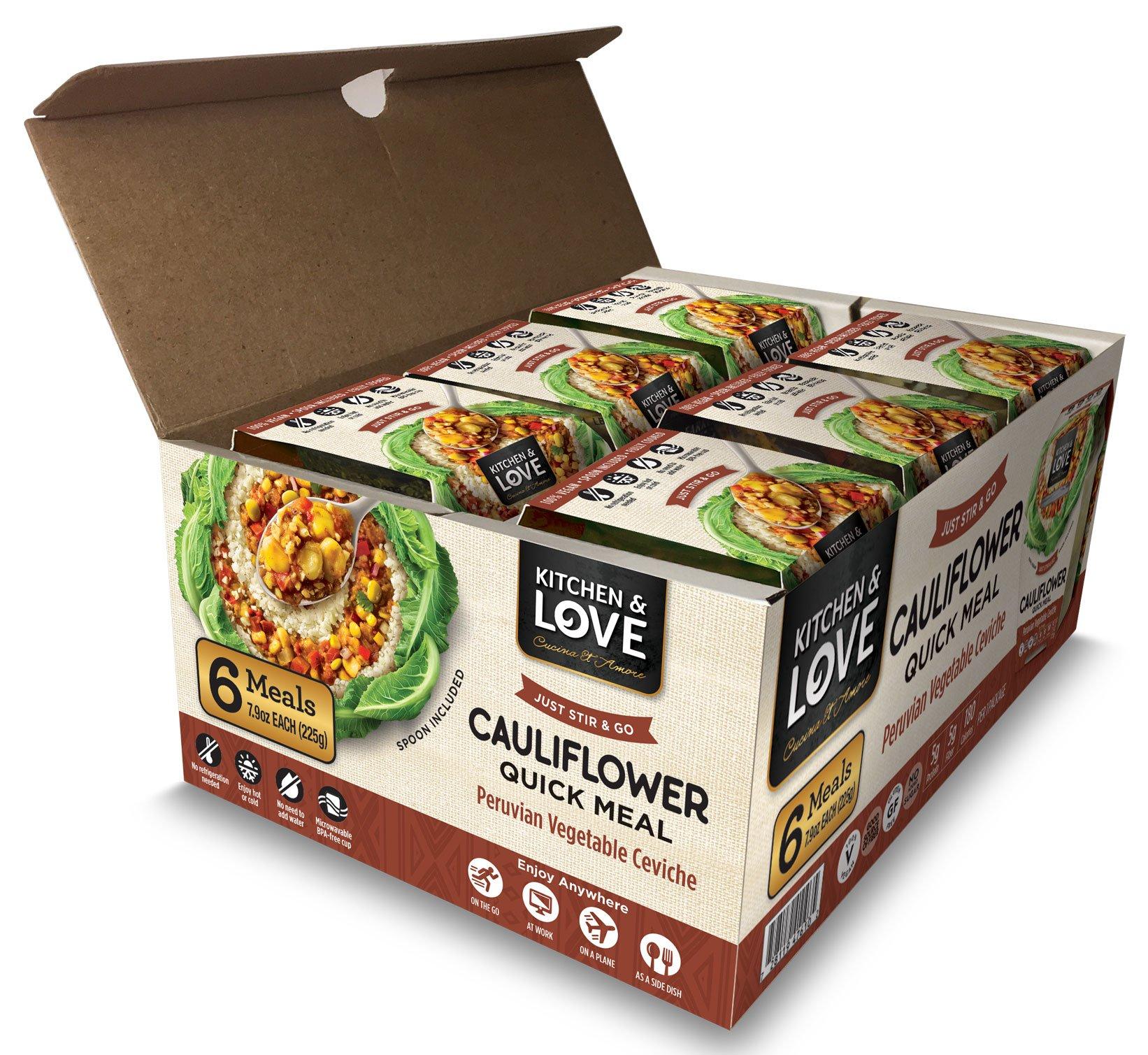 Kitchen & Love Peruvian Vegetable Ceviche Cauliflower Quick Meal 6 Pack by Kitchen & Love