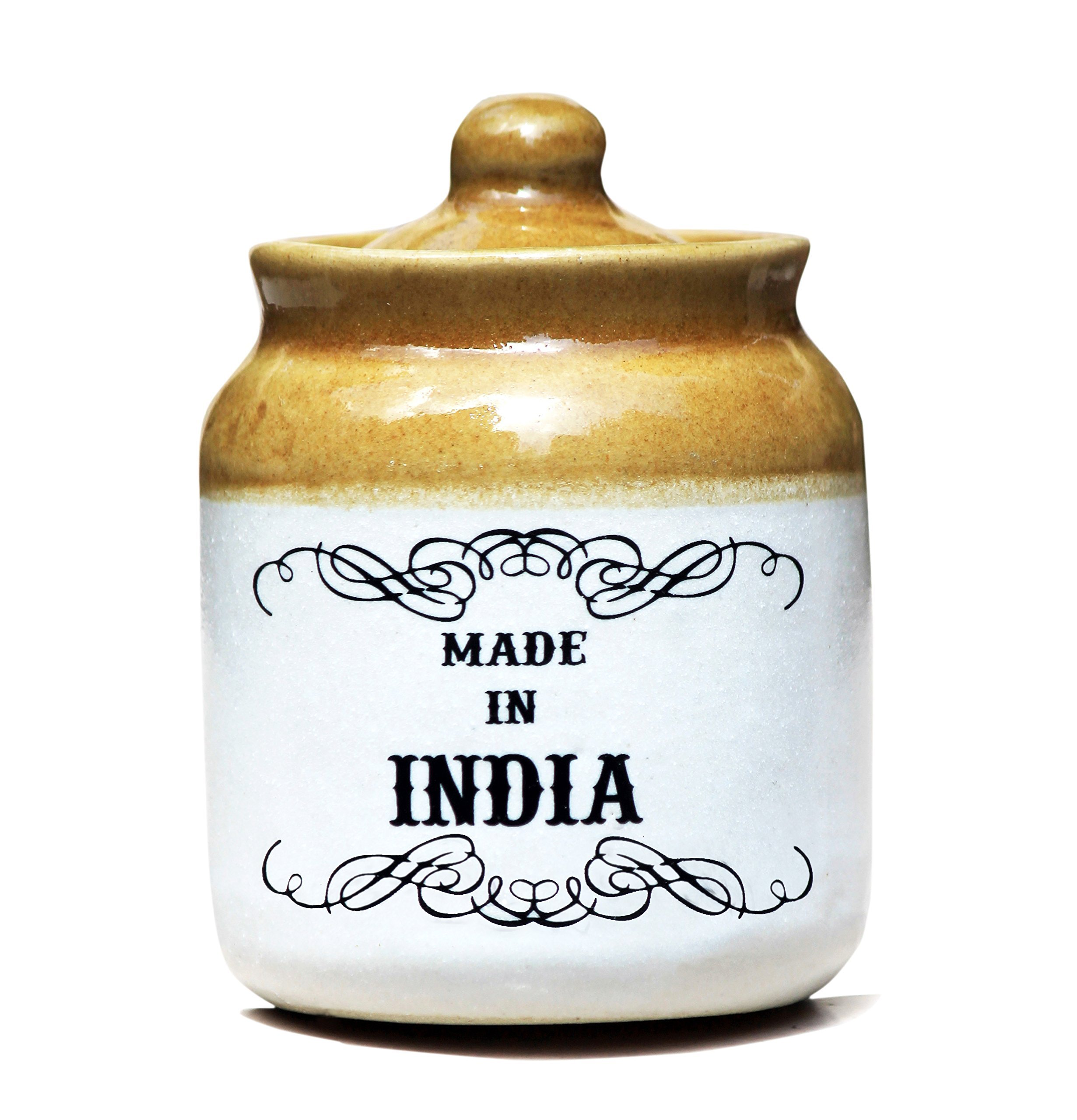 Eco Corner Made In India Ceramic Jar With Lid 300 ml
