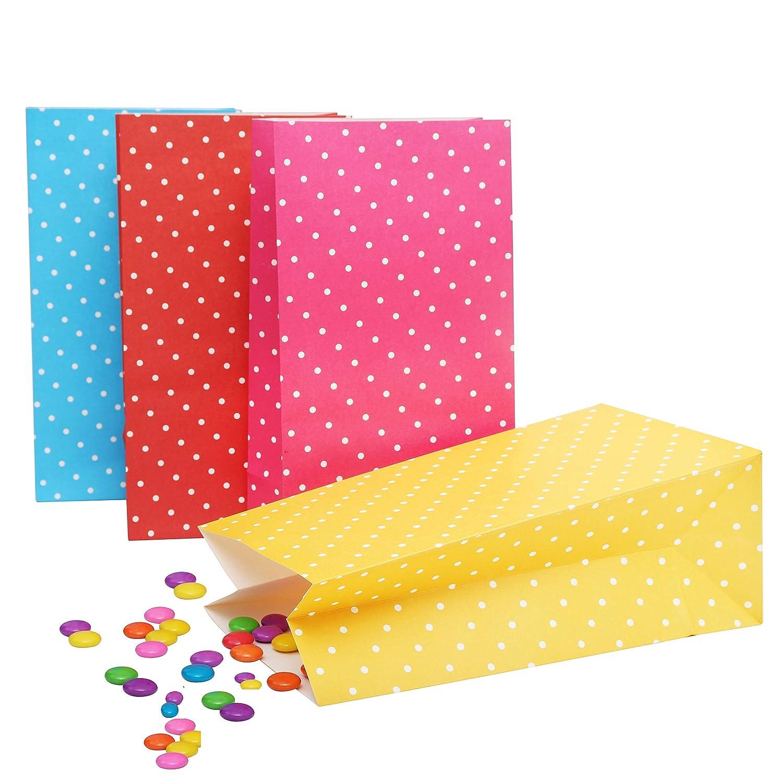 Deko Taschen Geschenktaschen Babyparty Papiertasche Geschenk Papiert/üten Kurtzy Papier Geschenkt/üten 24er Set T/üten aus Kraftpapier Macht das Tragen von Ke Hochzeit und mehr! Papier Partyt/üten f/ür Ihre Geburtstagsfeier