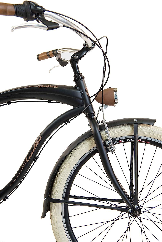 Bici V/élo Citybike Byciclette CTB Homme Vintage Retro Via Veneto American Cruiser Aluminium Via Veneto by Canellini
