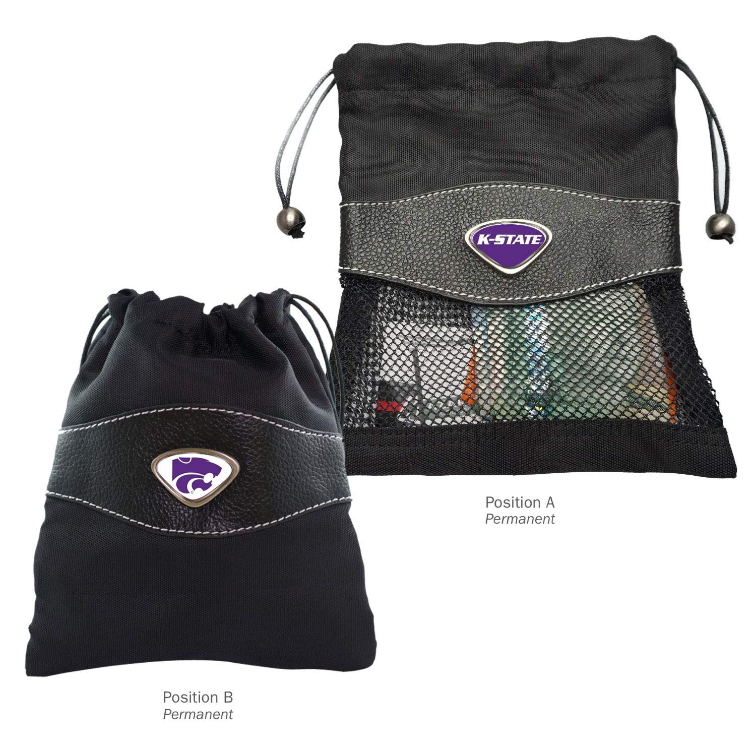 AdSpec NCAA Kansas State Wildcats Collegiate Valuables BagCollegiate Valuables Bag One Size Black