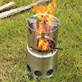 Camp Stove Cookware Combo Stainless Steel Wood