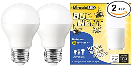 Miracle led yellow bug light max replaces 100w a19 outdoor bulb miracle led yellow bug light max replaces 100w a19 outdoor bulb for porch and aloadofball Gallery