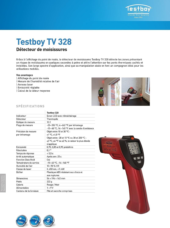 Testboy TV 328 Detector de Moho: Amazon.es: Industria, empresas y ciencia