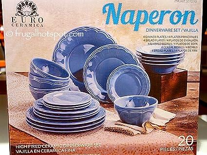 Naperon 20 Piece Dinnerware Set Vajilla Euro Ceramica & Amazon.com | Naperon 20 Piece Dinnerware Set Vajilla Euro Ceramica ...