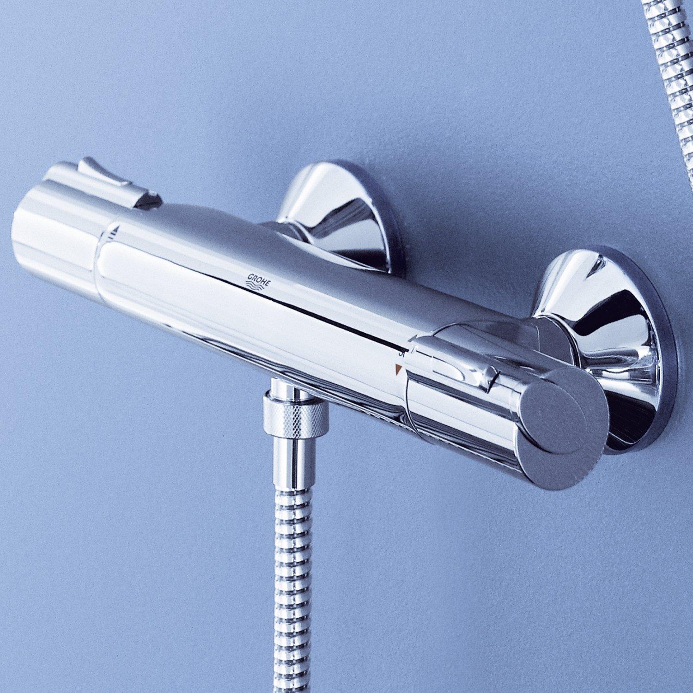 Grohtherm 1000 Thermostat Brausebatterie mit Brausegarnitur 900 mm
