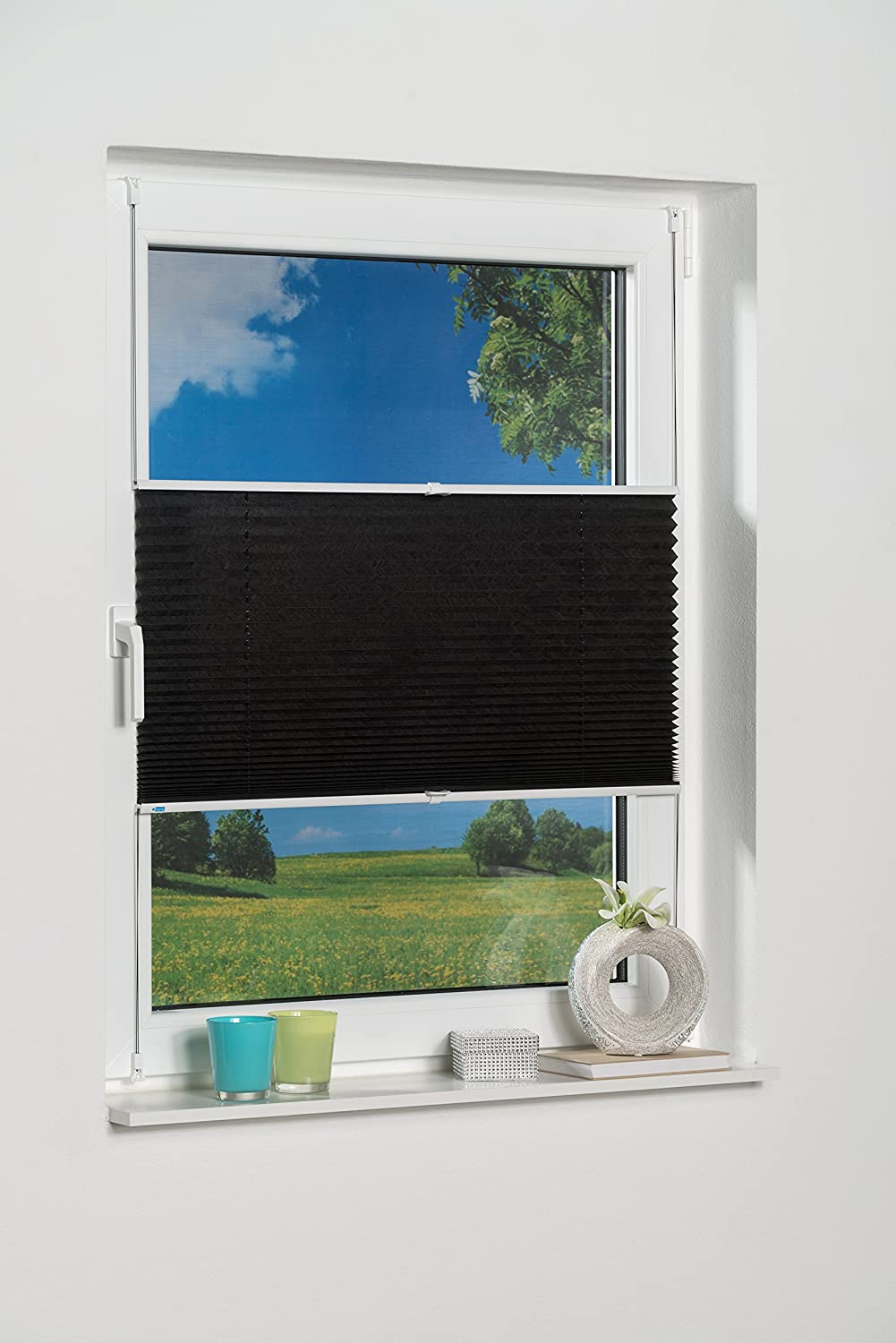 """K-Home 872765-4""""Palma"""" Clip-On Pleated Blind Sun-Protection, anthracite, black, 40 x 130 872765-1"""