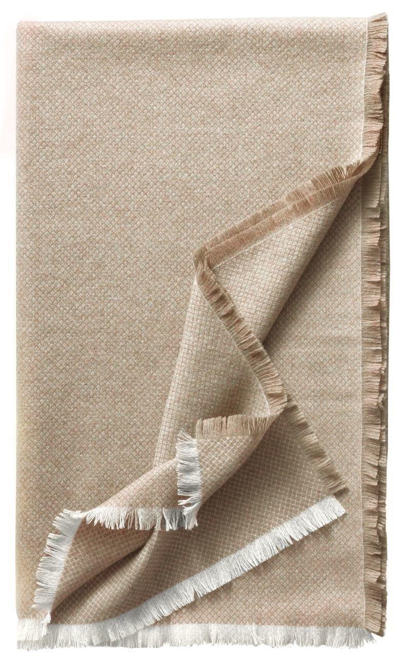 Eagle Products Monaco Wohndecken reines Kaschmir Farbe Natur Größe 130x200