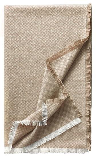 Eagle Products Monaco Wohndecken Reines Kaschmir Farbe Natur Grosse