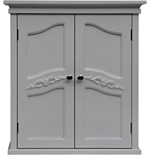 Elegant Home Fashion Vera 2 Door Wall Cabinet, White