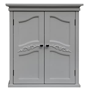 Elegant Home Fashion Vera 2-Door Wall Cabinet, White