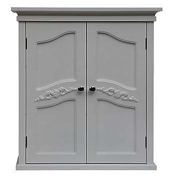 Elegant Home Fashion Vera 2 Door Wall Cabinet White