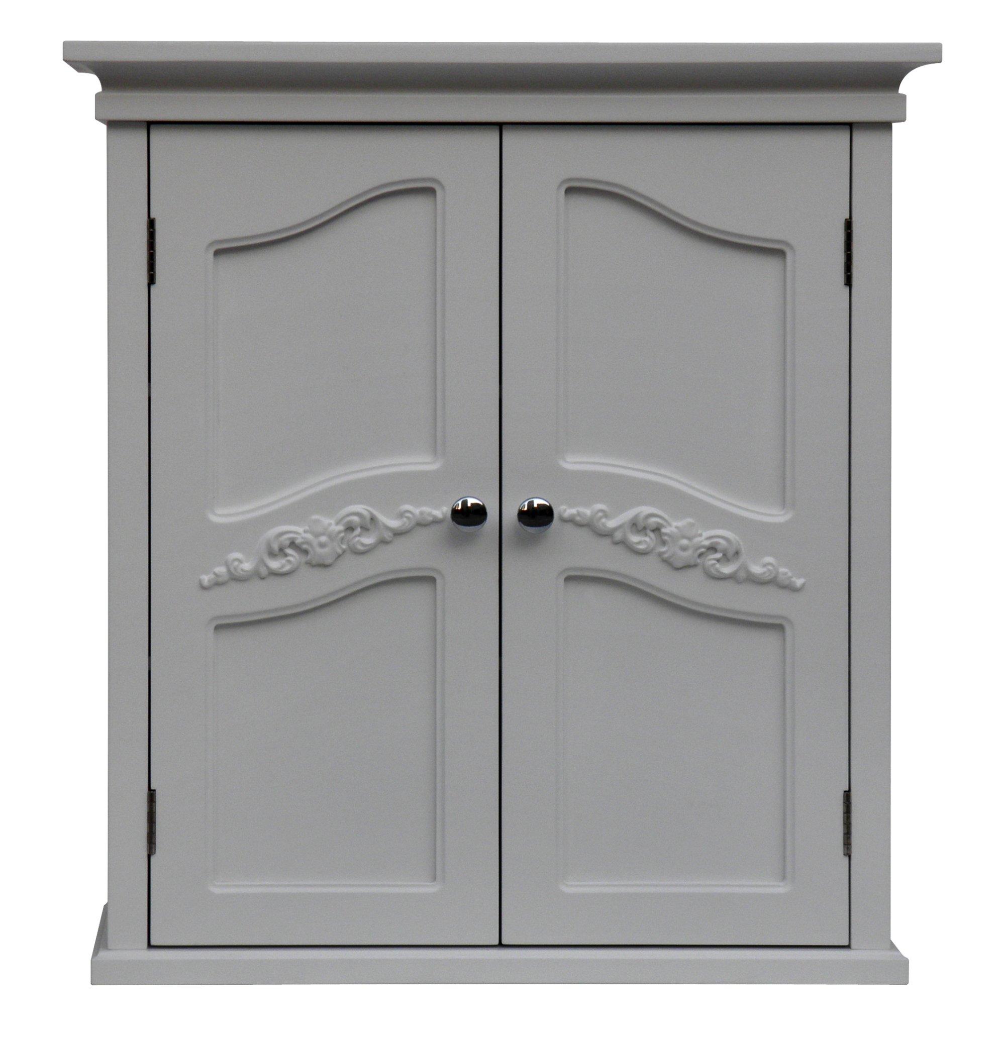 Elegant Home Fashion Vera 2-Door Wall Cabinet, White