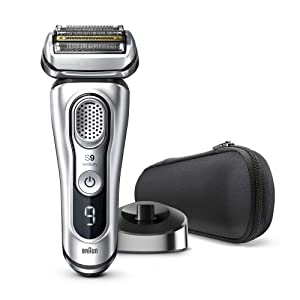 Braun Series 9 9330s Latest Generation Electric Shaver, Rechargeable & Cordless Electric Razor for Men - Charging Stand, Fabric Travel Case