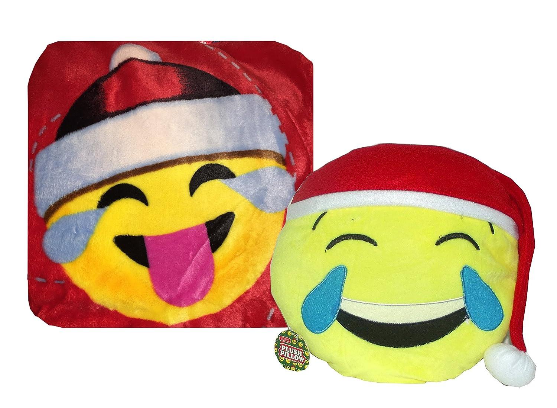 クリスマスベルベットSuper Plush 50 x 60絵文字Blanket Throw with絵文字枕 50