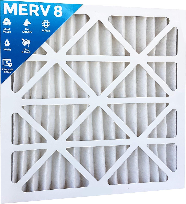 3 PACK 20x20x2 MERV 8 AC Furnace 2 Inch Air Filters