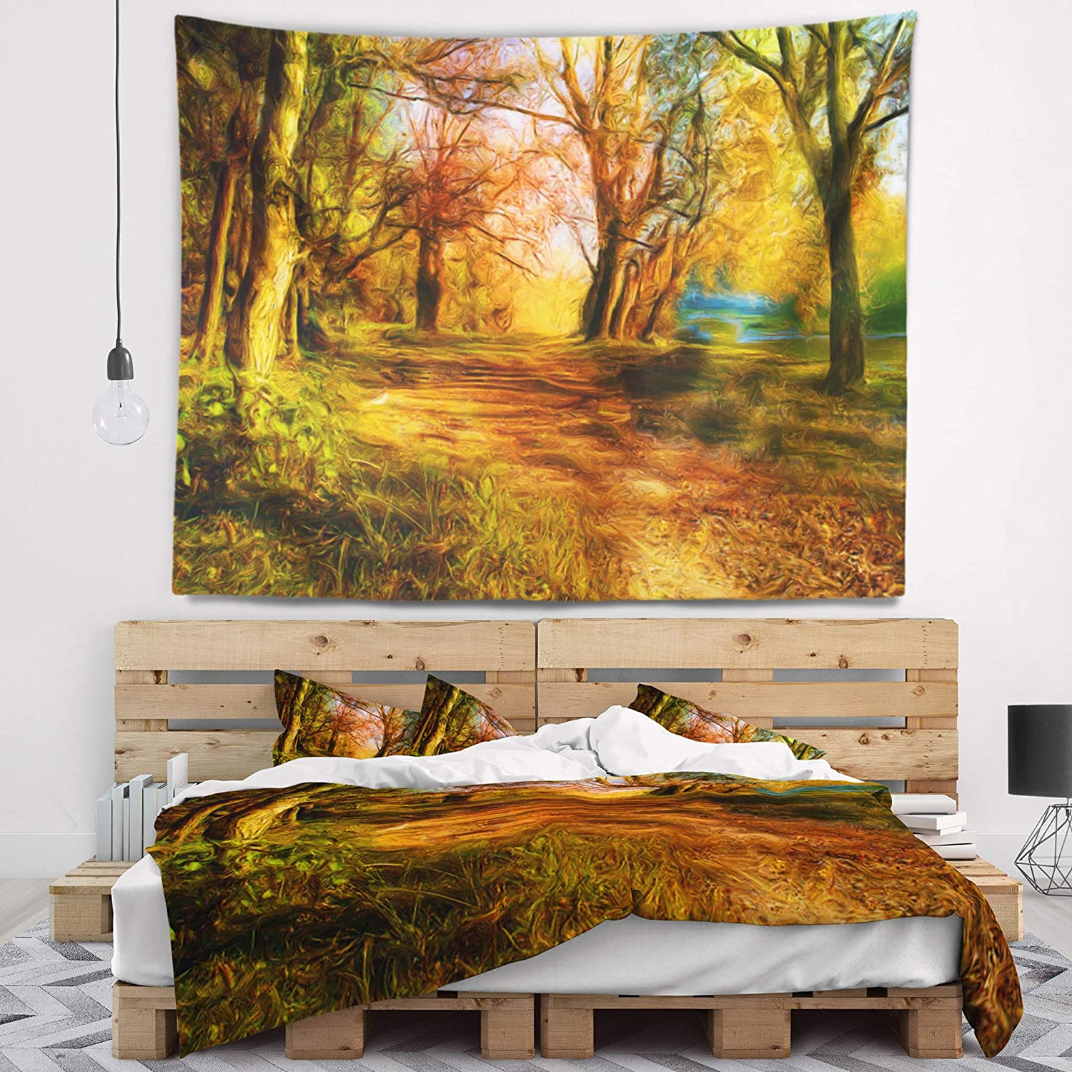 80 in Created On Lightweight Polyester Fabric x 68 in Designart TAP6401-80-68  Beauty of Nature Landscape Blanket D/écor Art for Home and Office Wall Tapestry x Large