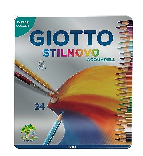 Giotto 256300 - Stilnovo Acquarell Pastelli Acquarellabili Scatola Metallo  da 24 Colori 180c9e94f25