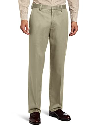 Dockers Men's Relaxed Fit Signature Khaki Pant - Flat Front D4 at ...