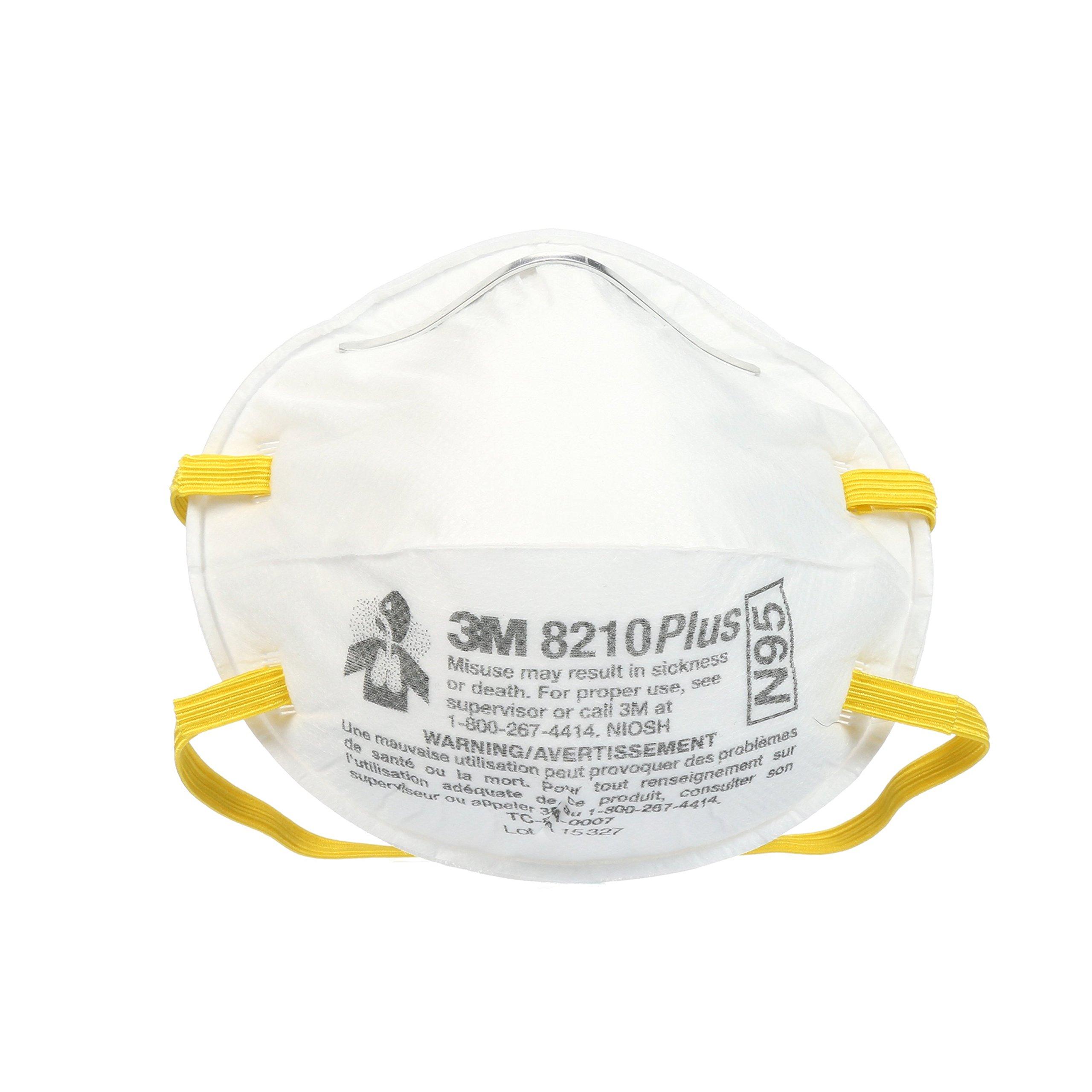 3M 8210 Plus Paint Sanding Dust Particulate Respirators, N95, 20-Pack by 3M (Image #2)