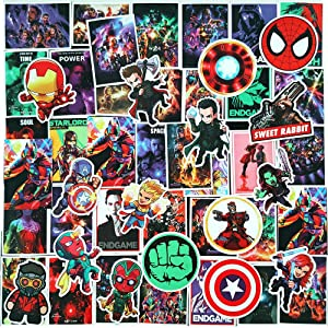 Ratgoo 100Pcs Trendy Waterproof Vinyl Cute Cartoon Stickers Decals Pack for Avengers Motorcycle Car Luggage Phone Guitar Water Bottle Flasks Bike Laptop Motocross Girls Kids Teens Boys.