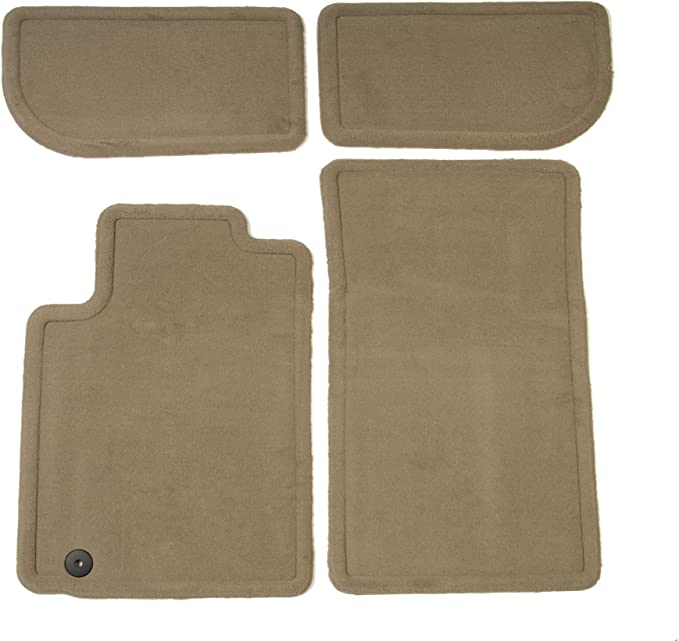 GM Accessories 22860826 Front and Rear Carpet Floor Mats in Black with CTS Logo and Molded Edge