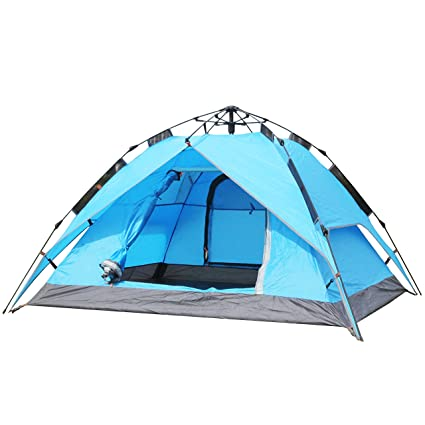 Pirny 3 Person Automatic Tent 3 Fold Backpacking C&ing tent Easy Set Up (Blue)  sc 1 st  Amazon.com & Amazon.com : Pirny 3 Person Automatic Tent 3 Fold Backpacking ...