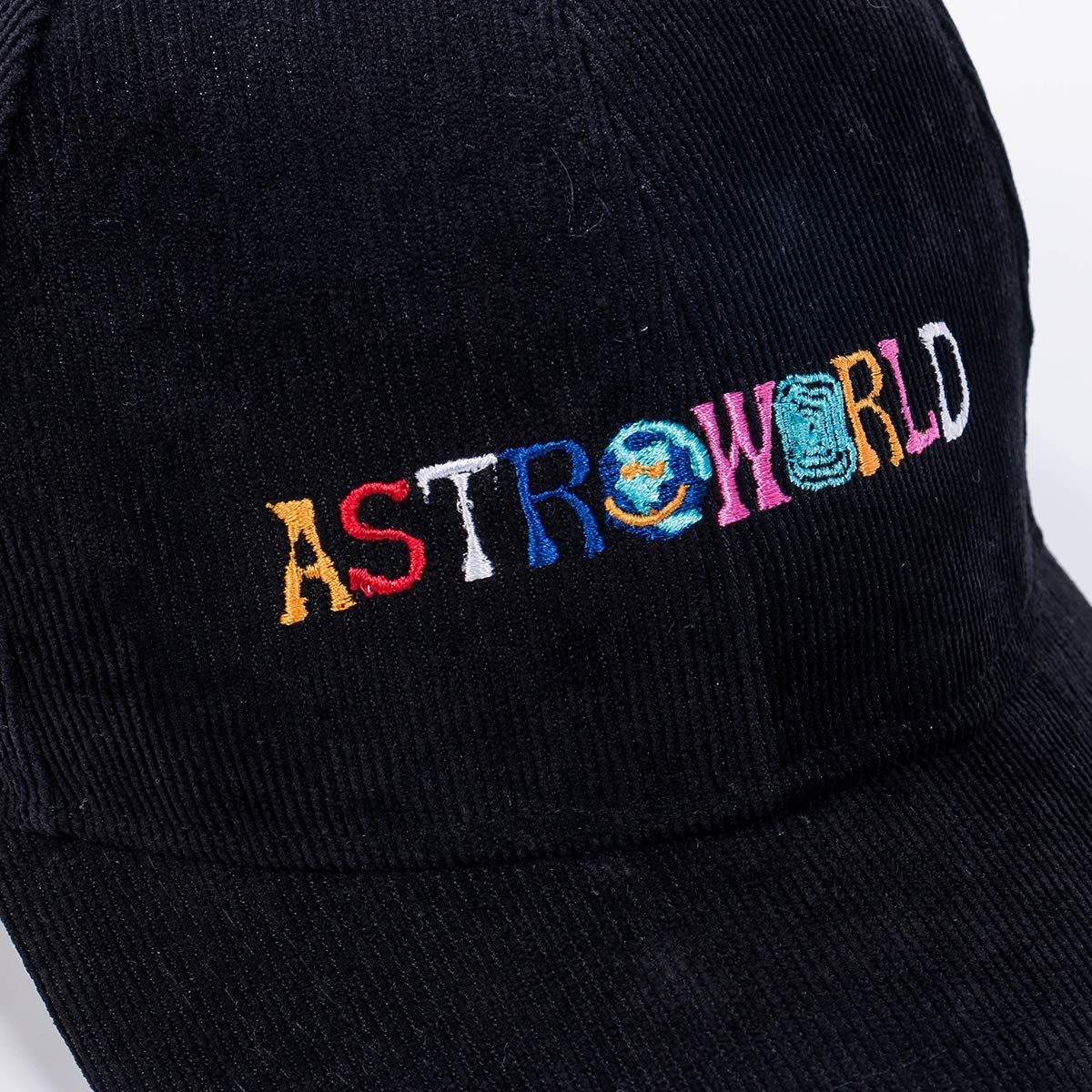 Unisex Dad Hat Travis Scott Astroworld Baseball Cap Corduroy Snapback Cap  Hip Hop Bone Garros Snapbacks (Black) at Amazon Men s Clothing store  8eeebee5451a