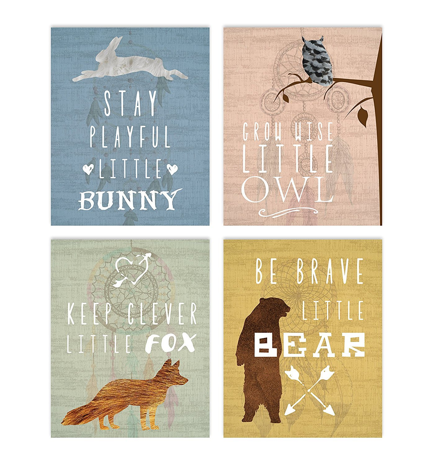 Collection Inspirational Animals 11x14 Print, Nursery Decor, Kids Decor, Animals Decor For Kids, Motivational Art, Inspirational Art Children Inspire Design