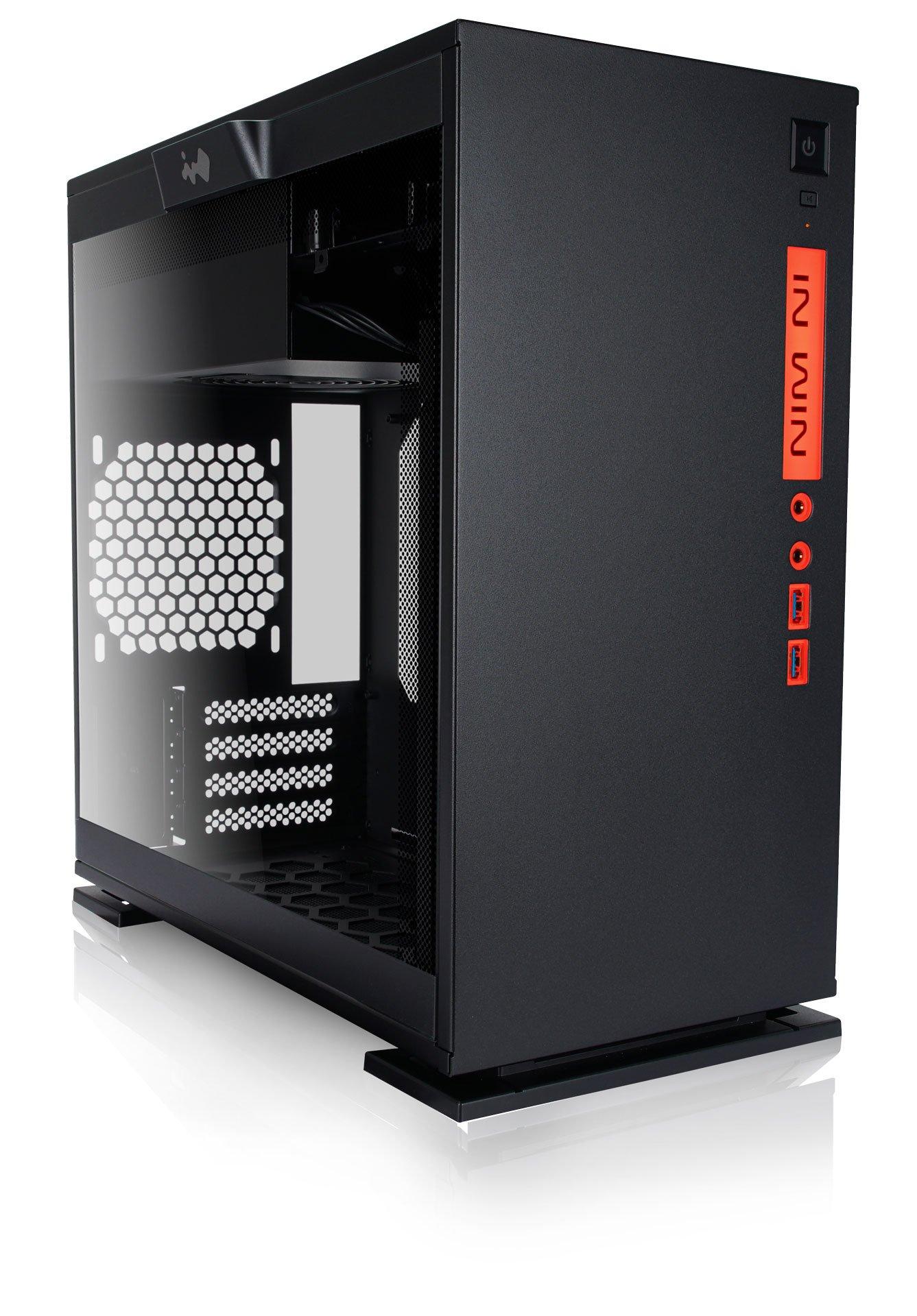In Win 301 Black Tempered Glass Premium Micro-ATX Mini-ITX Tower Gaming Computer Case