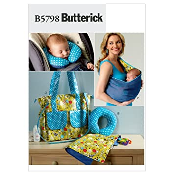 Amazon.com: Butterick Patterns B5798OSZ Baby\'s Changing Pad Sewing ...